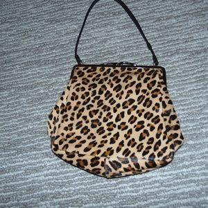 Bags - Vintage 50s faux leopard clutch